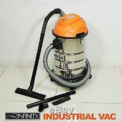 1000W Wet &Dry 30L Vacuum Cleaner with Blowing Function for Home Office Workshop