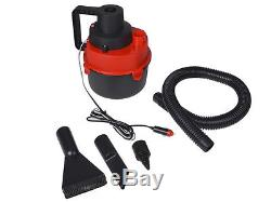 12V Portable Wet & Dry Outdoor Mini Car Boat RV Vacuum Cleaner Inflator Pump Red