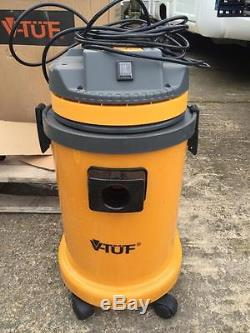 240V V-TUF VT3000 Industrial Wet And Dry Hoover Vacuum Cleaner USED GOOD CON