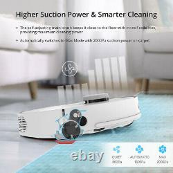 360 S5 2000pa WiFi Robot Vacuum Cleaner Floor Dry Wet Mopping LDS Lidar SLAM APP