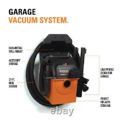 5-Gal Shop Vacuum Wet Dry Wall-Mount Vac Cleaner Blower Car Portable Ridgid NEW