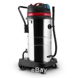60 Litre Stainless Steel Industrial Wet Dry Vacuum Cleaner Free P&p Uk Offer