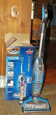 Bissell Crosswave Wet/Dry Multi-Surface Vacuum Floor Carpet Cleaner, Blue 1785W
