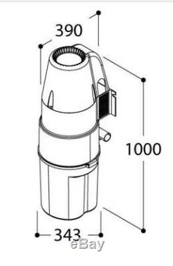 Central Vacuum Cleaner Wall Mounted Very High Quality EU Product Wet & Dry