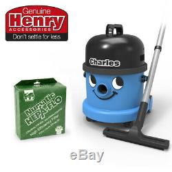 Charles CVC370 Wet or Dry Corded Cylinder Vacuum Cleaner + 10 HepaFlo Filter