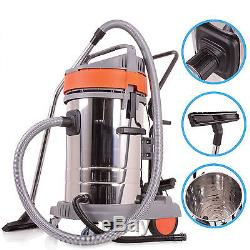 Commercial 3000w 80l Stainless Steel Bagless Wet Dry Vacuum Cleaner Vac Hoover