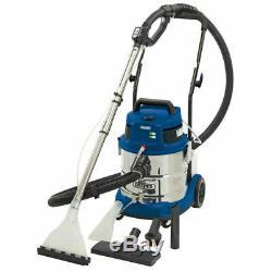 Draper 20L 1500W 230V Wet and Dry Shampoo Vacuum Cleaner Car Valeting Machine