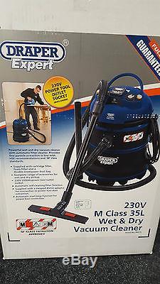 Draper 230V M Class 35L Wet & Dry Vacuum Cleaner