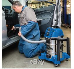 Draper 30L Wet Dry Vacuum Cleaner Hoover Linking Builtin 230V Power tool Supply
