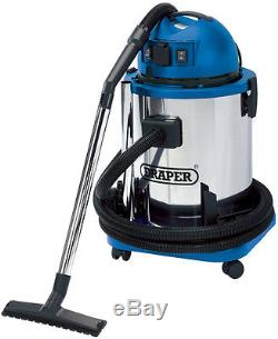 Draper 48499 50L 1400W 230V Wet and Dry Vacuum Cleaner with Stainless Steel Tank