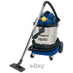 Draper 50L 1500W 110V Wet and Dry Vacuum Cleaner SST Tank with Power Tool Socket