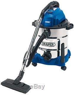 Draper 54257 30L 1400W Wet and Dry Vacuum Cleaner with Integrated 230V Power Soc