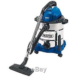 Draper 54257 30 Litre 1400 W Wet and Dry Vacuum Cleaner with Integrated 230 V