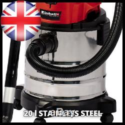 Einhell 2347131 Power X-Change Cordless Wet and Dry Vacuum Cleaner, 18 V, Red