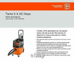 FEIN Turbo II X AC HEPA Vacuum Cleaner with Automatic Filter Cleaning, Wet/Dry