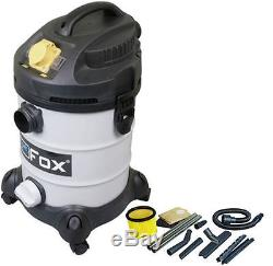 FOX 30Ltr 110v/240v Wet/Dry Hoover/Vacuum Cleaner+Accessory Kit & Bags, F50-800