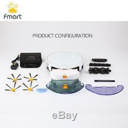 Fmart Floor Cleaning Robot Vacuum Cleaner Wet/Dry Mop Water Tank Wifi FM-R570 UK