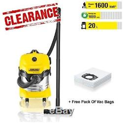 GENUINE KARCHER MV 4 Wet & Dry Vacuum Cleaner + Vac Bags (1348153 1.348-153.0)