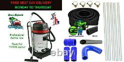 Gutter Vacuum Cleaner 3000w 80L 20FT 6M Pole System 38mm Flexible Hose Pipe 10M