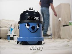 Henry Charles Wet and Dry Vacuum Cleaner, 15 Litre, 1060 W, Blue
