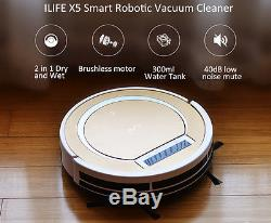 ILIFE X5 Smart Robotic Vacuum Cleaner Intelligent Remote Control 2 in 1 Dry Wet