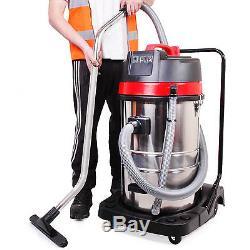 Industrial 3000w 80l Wet Dry Stainless Steel Bagless Vacuum Cleaner Water Hoover