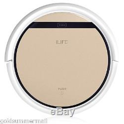 Ilife V5S Pro 2In1 Robotic Vacuum Cleaner Cordless Dry Wet Sweeping Gold US Plug