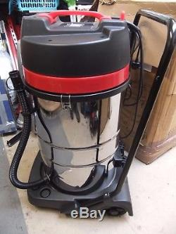 Industrial Vacuum Cleaner Wet & Dry Powerful Stainless Steel 80L 3000W A3136