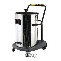 Industrial Vacuum Cleaner Wet & Dry Vac Commercial Stainless Steel 80L 3600W
