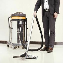 Industrial Vacuum Cleaner Wet & Dry Vac Commercial Stainless Steel 80L 3600W UK
