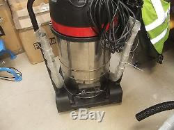 Industrial Vacuum Cleaner Wet Dry Vac Extra Powerful Stainless Steel 80L A2652