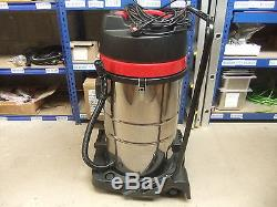 Industrial Vacuum Cleaner Wet Dry Vac Extra Powerful Stainless Steel 80L A2746