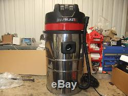 Industrial Vacuum Cleaner Wet Dry Vac Extra Powerful Stainless Steel 80L A2774