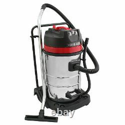 Industrial Vacuum Cleaner Wet & Dry Vac Extra Powerful Stainless Steel 80L B0658