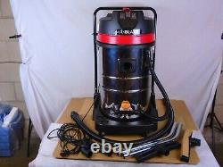 Industrial Vacuum Cleaner Wet & Dry Vac Extra Powerful Stainless Steel 80L B1218