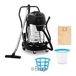 Industrial Vacuum Cleaner Wet/Dry Vacuum Shop Cotton & HEPA Filters 3000W 80L