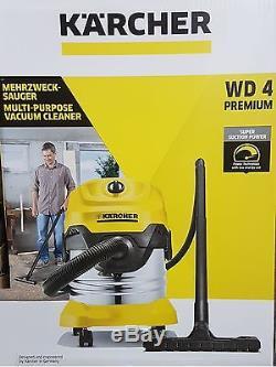 KARCHER WD4 Premium Wet & Dry Vacuum Cleaner 1.348-153.0 BNIB