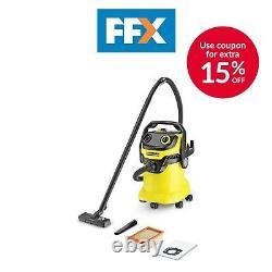 Karcher 1.348-203.0 240v 1100w 25L Wet and Dry Vacuum Cleaner Set