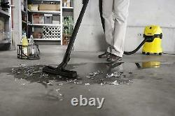Karcher WD2 Tough Vac, Wet and Dry Vaccum Cleaner Yellow
