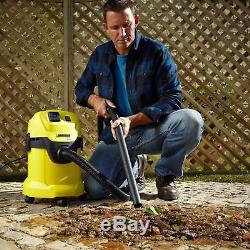 Karcher WD3P Wet Dry Vacuum Cleaner 1000W Industrial 17L All Floors with Car Kit