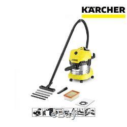 Karcher WD4 Premium Wet & Dry Cylinder Vacuum Cleaner 1000W 20L 1629763 Grade C