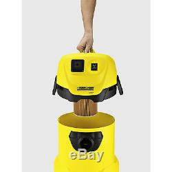 Karcher WD 3P Wet & Dry Vacuum Cleaner with 17 Litre Tank 1000w Free Shipping