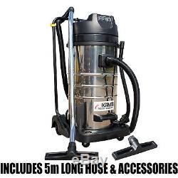 Kiam Gutter Cleaning System KV100-3 Wet & Dry Vacuum Cleaner & 40ft 12m Pole Kit