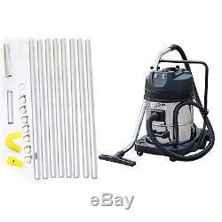 Kiam Gutter Cleaning System KV60-2 Wet & Dry Vacuum Cleaner & 32ft 9.6m Pole Kit