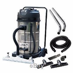 Kiam KV80-3 80L 3600W Wet Dry Warehouse Workshop Vacuum Cleaner Floor Squeegee