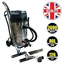 Kiam KV80 80L GUTTER CLEANING VACUUM Cleaner 3 motor 3600 watt power