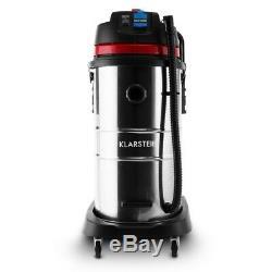 Klarstein Industrial Vacuum Cleaner Wet Dry HEPA Filter Socket Red 2000W 60L
