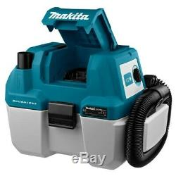 Makita DVC750LZ 18V Brushless Wet & Dry Vacuum Cleaner LXT L-Class Low Noise