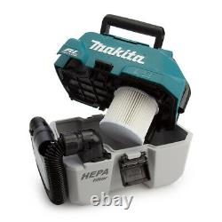 Makita DVC750LZ 18V LXT BL Wet/Dry Vacuum Cleaner + 2 x Extra Large Work T-Shirt