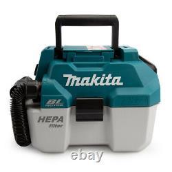 Makita DVC750LZ 18V LXT Brushless Wet/Dry Vacuum Cleaner + 2 x 6.0Ah Batteries